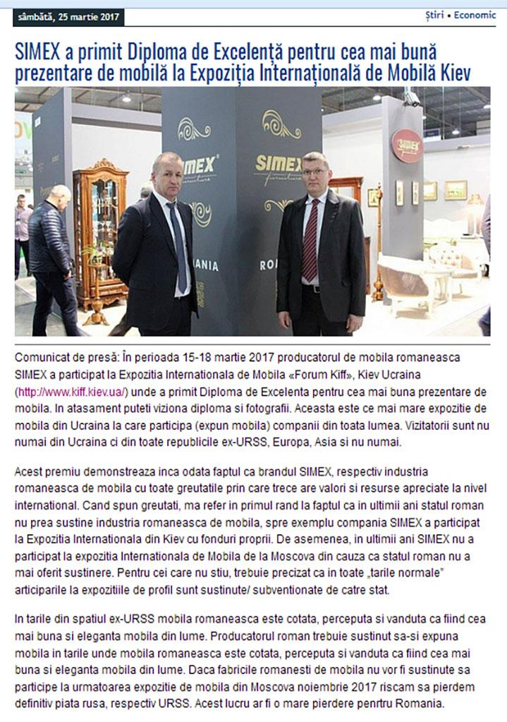 Diploma Simex Expozitie Kiev